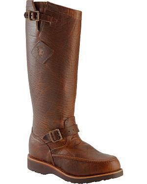 Chippewa Iowa American Bison Snake Boots - Mocc Toe