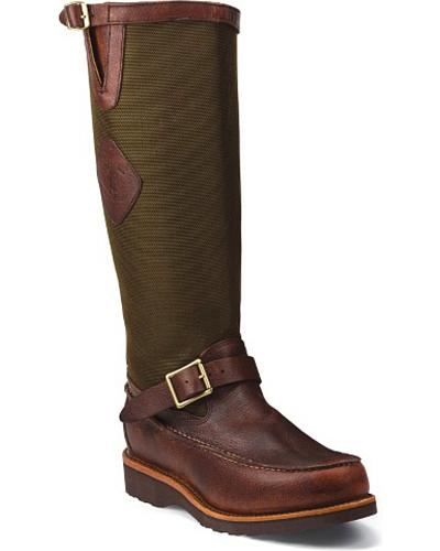 Chippewa Back Zipper Pull-On Snake Boots Mocc Toe Western & Country 23922