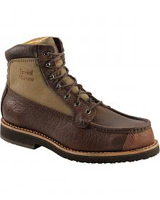 "Chippewa Waterproof Bison 6"" Lace-Up Work Boots - Round Toe"
