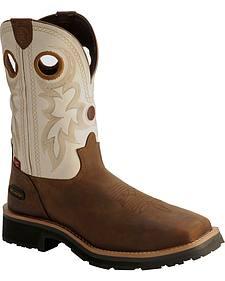 Tony Lama 3R White Waterproof Cheyenne Chaparral Boots - Comp Toe