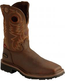 Tony Lama 3R Chocolate Waterproof Cheyenne Chaparral Boots - Composition Toe