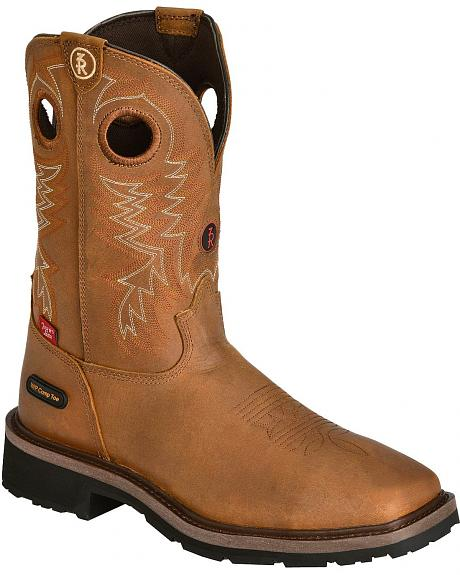 Tony Lama 3R Cheyenne Chaparral Pull-On Work Boots - Composition Toe