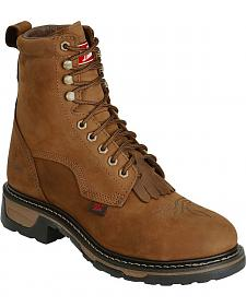 "Tony Lama Waterproof Cheyenne 8"" Lace-Up Work Boots - Steel Toe"