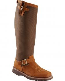 Chippewa Aged Regina Snake Boots - Square Toe