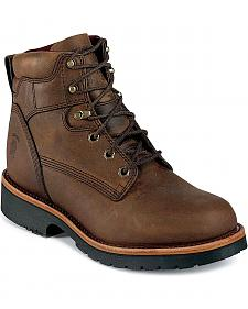 "Chippewa Arctic Waterproof Insulated 6"" Lace-Up Work Boots - Round Toe"