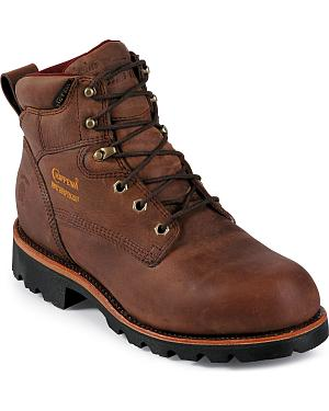 "Chippewa Arctic Insulated Waterproof 6"" Lace-Up Work Boots - Round Toe"