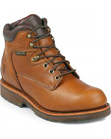 "Chippewa Waterproof 6"" Lace-Up Work Boots - Steel Toe"