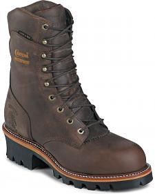 "Chippewa Waterproof Insulated Super 9"" Logger Boots - Round Toe"