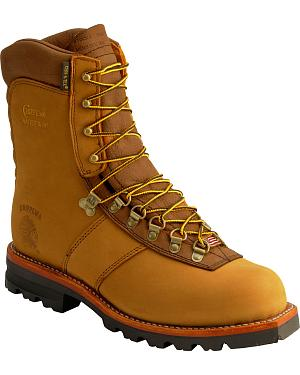 "Chippewa Arctic Nubuck Insulated Waterproof 9"" Lace-Up Work Boots"