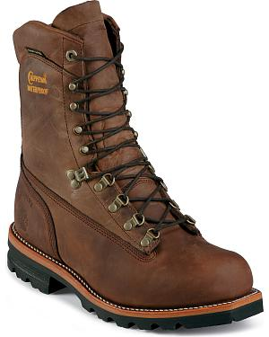 "Chippewa 9"" Arctic Waterproof Shearling Insulated Work Boots - Round Toe"