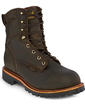 "Chippewa Bay Apache Waterproof & Insulated 8"" Lace-Up Work Boots - Steel Toe"