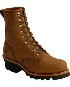 """Chippewa Bay Apache 8"""" Logger Boots - Round Toe"""