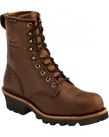 "Chippewa Bay Apache Waterproof 8"" Logger Boots - Steel Toe"