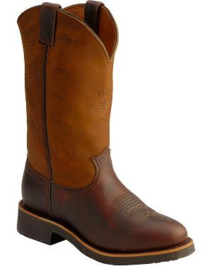 Chippewa Crazy Horse Pitstop Pull-On Work Boots - Round Toe