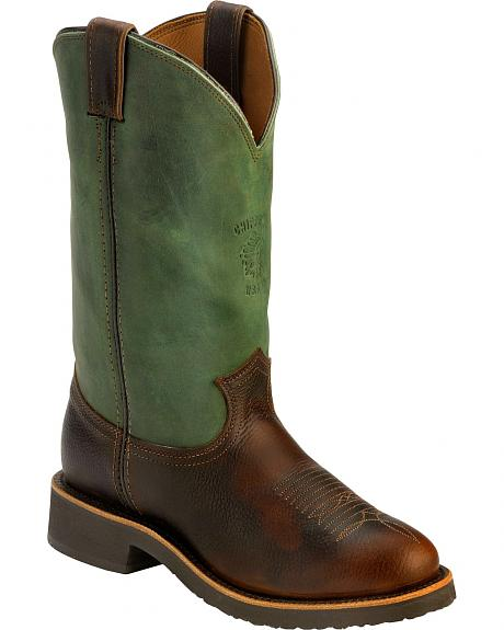 Chippewa Crazy Horse Pitstop Work Boots - Round Toe