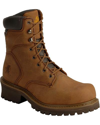 "Chippewa IQ Tough Oblique 8"" Logger Boots Steel Toe Western & Country 55026"