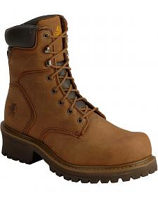 "Chippewa IQ Tough Oblique 8"" Logger Boots - Steel Toe"