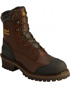 "Chippewa Oiled Waterproof 8"" Logger Boots - Round Toe"