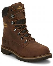 "Chippewa Heavy Duty Waterproof & Insulated Aged Bark 8"" Work Boots - Round Toe"