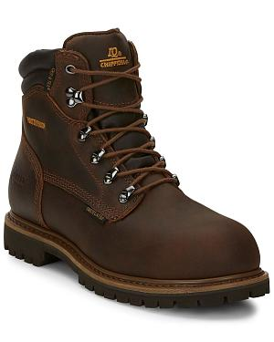 "Chippewa Waterproof & Insulated Tough 6"" Lace-Up Work Boots - Comp Toe"