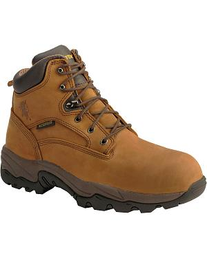 "Chippewa Waterproof Bay Apache 6"" Lace-Up Work Boots - Round Toe"