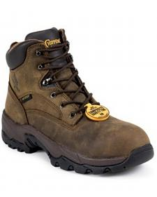 "Chippewa Waterproof Bay Apache 6"" Lace-Up Work Boots - Comp Toe"