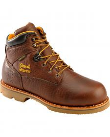 "Chippewa Waterproof & Insulated 6"" Lace-Up Work Boots - Round Toe"