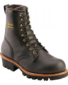 "Chippewa Waterproof & Insulated 8"" Logger Boots - Round Toe"