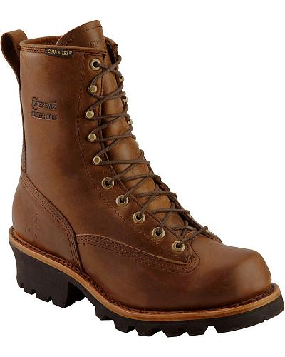 "Chippewa Waterproof 8"" Logger Boots Plain Toe Western & Country 73100"