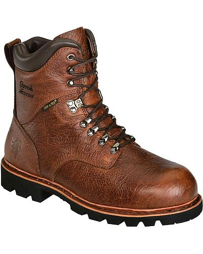 "Chippewa Arctic Waterproof 8"" Lace-Up Work Boots Composition Toe Western & Country 73126"