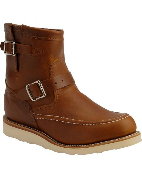 Chippewa Renegade Highlander Harness Boots - Round Mocc Toe