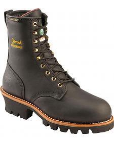 "Chippewa Waterproof & Insulated Oiled 8"" Logger Boots - Steel Toe"