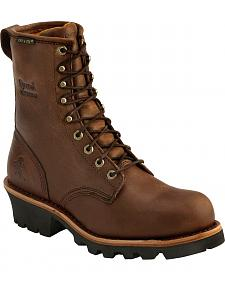 "Chippewa Women's Waterproof Insulated 8"" Logger Boots - Round Toe"