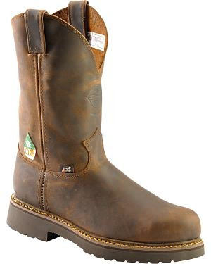 Justin Rugged Gaucho Pull-On Work Boots - Steel Toe