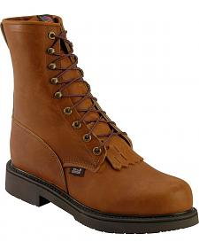 "Justin Double Comfort 8"" Lace-Up Work Boots - Steel Toe"