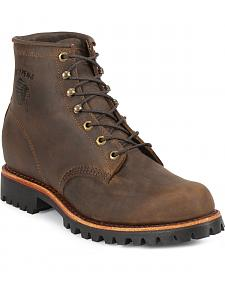 "Chippewa Bay Apache 6"" Lace-Up Work Boots - Steel Toe"