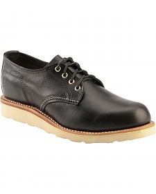 Chippewa Black Whirlwind Oxford Shoes - Round Toe