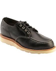 Chippewa Black Whirlwind Oxford Shoes