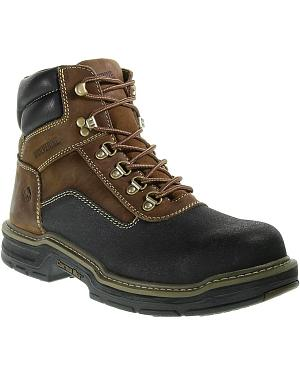 "Wolverine 6"" Corsair Waterproof Lace-Up Work Boots - Composition Toe"