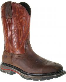 Wolverine Javelina Pull-On Work Boots - Steel Toe