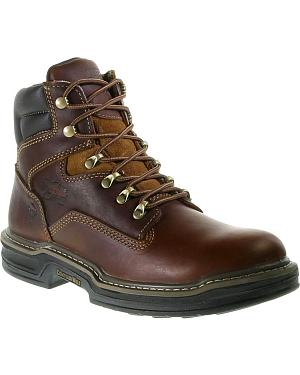 "Wolverine 6"" Raider Lace-Up Work Boots - Round Toe"
