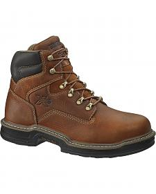 "Wolverine 6"" Raider Lace-Up Work Boots - Steel Toe"