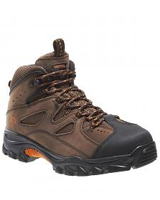 "Wolverine 6"" Lace-Up Hudson Hiker Boots - Steel Toe"