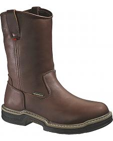Wolverine Buccaneer Waterproof Pull-On Work Boots - Steel Toe