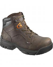 "Wolverine Merlin Waterproof 6"" Lace-Up Work Boots - Composition Toe"