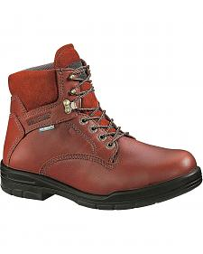 "Wolverine 6"" Durashocks Lace-Up Work Boots - Steel Toe"
