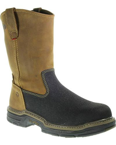 Wolverine Corsair Waterproof Pull-On Work Boots Composition Toe Western & Country W02285