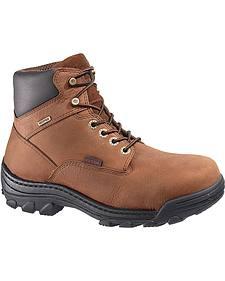 """Wolverine 6"""" Durbin Waterproof Lace-Up Work Boots - Steel Toe"""