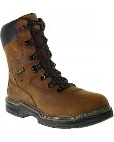 "Wolverine Marauder 8"" Waterproof & Insulated Lace-Up Work Boots - Round Toe"