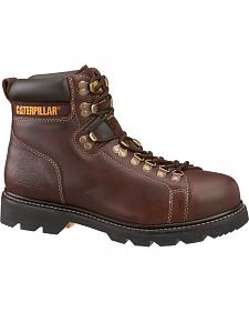 "Caterpillar 6"" Alaska FX Lace-Up Work Boots - Steel Toe"